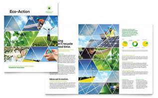 e brochure design templates environmental agricultural non profit brochure template