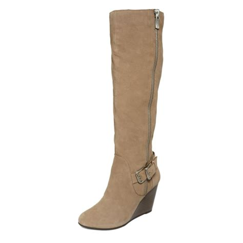 bcbgeneration watson wedge boots in brown warm taupe lyst