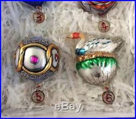 pottery barn 12 twelve days of christmas ornaments set of