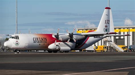 hercules firefighting tanker arrives in australia australian aviation