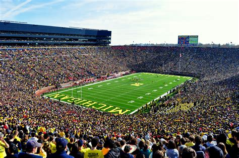 the big house capacity michigan stadium openbuildings