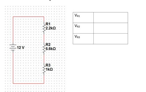 the voltage across each resistor determine the voltage across each resistor for the chegg