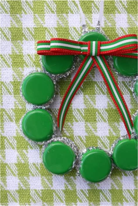 top  upcycled bottle cap diy christmas ornaments top inspired