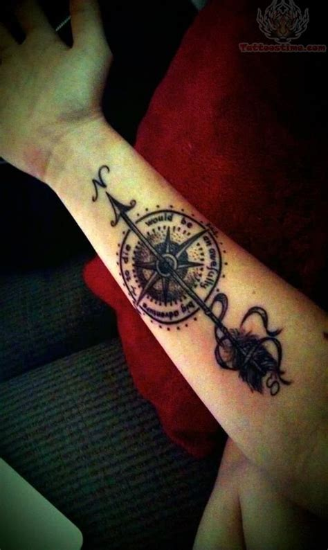 compass tattoo inner arm arrow compass tattoo on inner arm real photo pictures