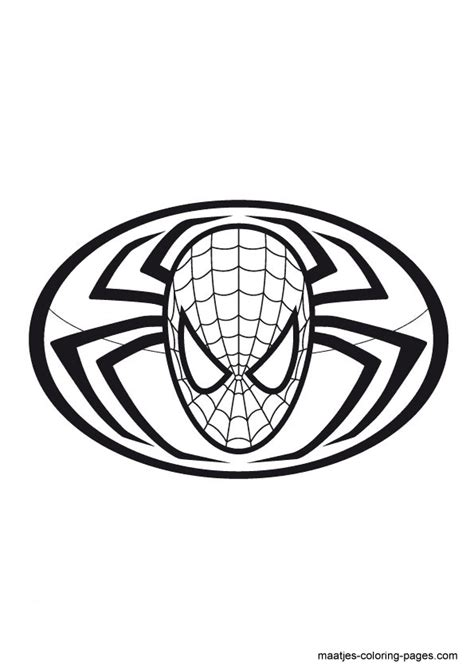 spiderman symbol coloring page spider man symbol coloring pages coloring pages