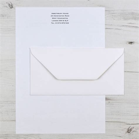 personalised writing paper premium personalised writing paper set a4 by honey tree