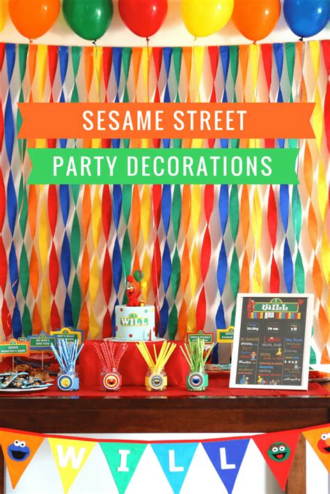 Sesame Decorations by Planning A Sesame Decorations Food