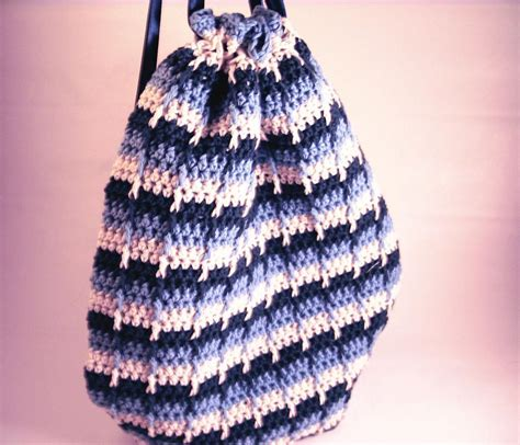 pattern crochet string bag ready for ridges try the front post double crochet