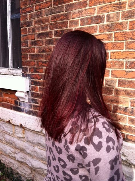 5rv hair color kenra 5rv demi color with purple booster on top layer 4n