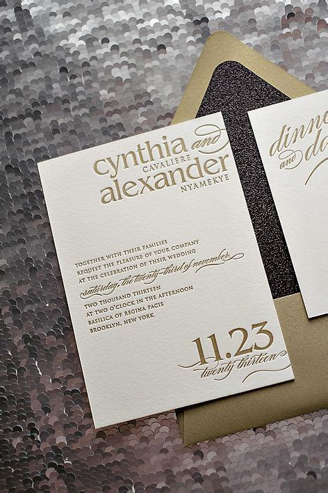 Wedding Invitation Suite Packages by Cynthia Suite Glitter Package Modern Wedding Invitation