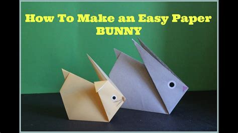 How To Make A Rabbit Out Of Paper - how to make a rabbit out of paper 28 images how to
