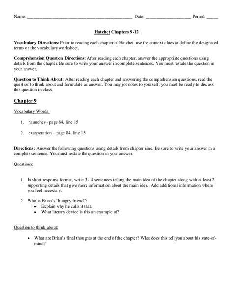 Hatchet Essay Questions by Hatchet Essay Hatchet Vocabulary Lists Hatchet Book Teaching Vocabulary And Speculative Essay On