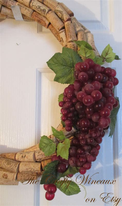 Large 19 Quot Wine Cork Large 19 Quot Wine Cork Wreath With Grapes Choose Your Grape Color The Crafty Wineaux