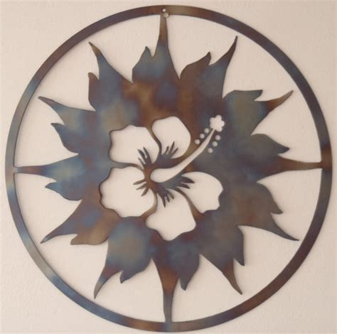 metal sun wall decor hibiscus and sun metal wall decor