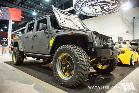 jeep bandit 2017 2016 sema sprintex momo bandit jeep jk cab