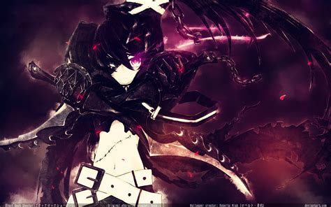 anime girl rock wallpaper black rock shooter full hd fondo de pantalla and fondo de