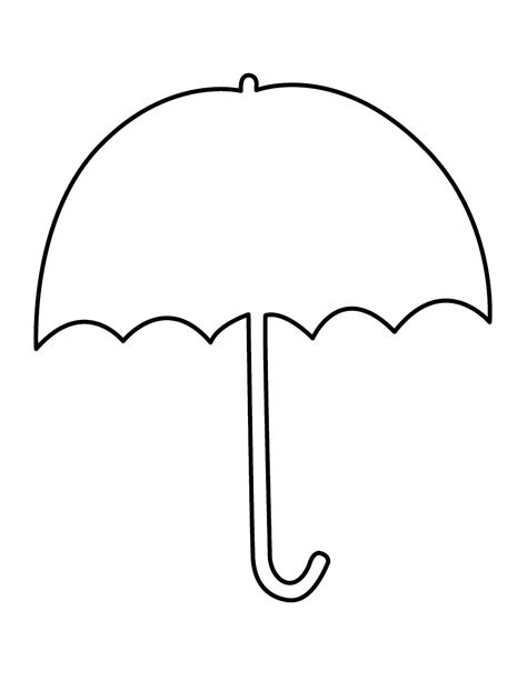 umbrella template umbrella clip outline clipart panda free clipart