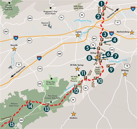 the appalachian trail map appalachain trail parking map