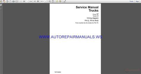 volvo trucks fh12 fh16 rhd wiring diagram service manual