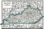 kentucky map capital maps of united states kentucky