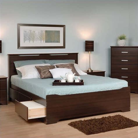 queen size platform bed with drawers prepac coal harbor queen size mate s platform storage bed