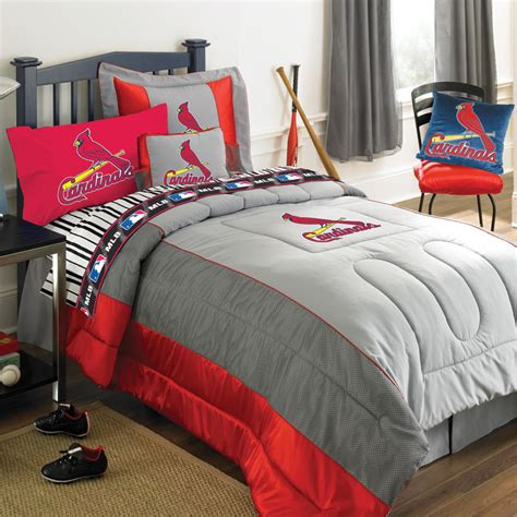 st louis cardinals mlb authentic jersey bedding queen size comforter sheet set