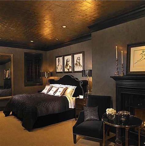 dark bedroom walls  gold trim google search