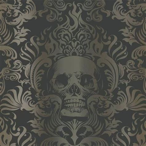 gothic wallpaper for walls uk gothic wallpaper for walls silver gold and black skull