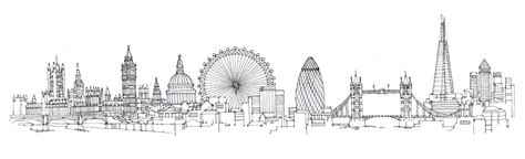 london skyline drawing for leon paul london drawings