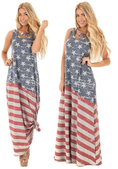 Ki 762 Stripe Midi Dress grey starts and striped draped american flag print a line distressed casual maxi dress maxi