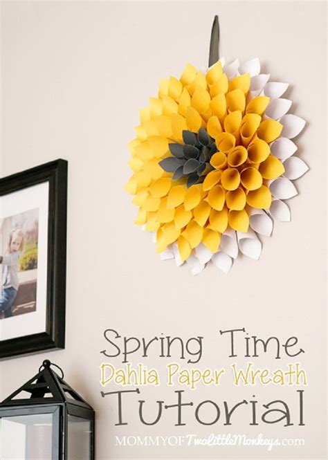 How To Make A Paper Wreath - top 10 ways to diy beautiful artificial dahlias