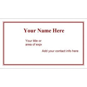 Business Card Sheet Template Word by Templates Maroon Border Business Card 10 Per Sheet Avery