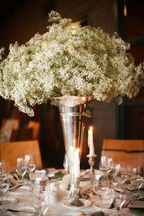 baby s breath centerpiece flower ideas for our wedding