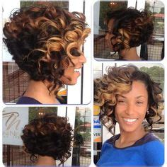 Toni Neal Stylist Partial Sewin Inverted Bob With Highlights | this is one of the sexiest bobs ever the deep side part