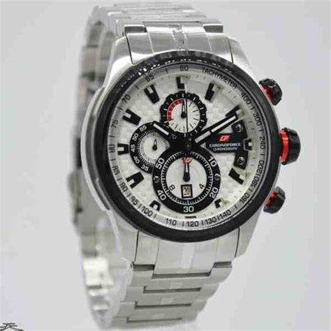 Chronoforce Black White Original jual jam tangan pria chronoforce 5268ms silver black white