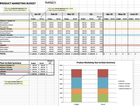 Access Budget Template