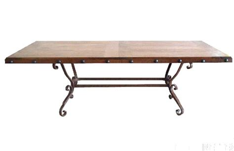 mesquite wood rectangle dining table western dining tables