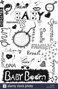 free doodle words black and white pregnancy doodle with words and symbols