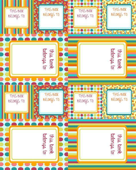 Free Printable School Label Templates