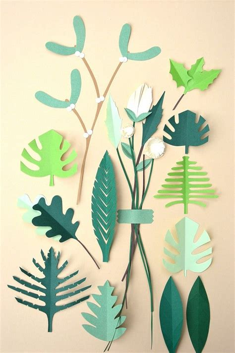 How To Make Paper Leaves For Flowers - 25 unique paper leaves ideas on leaf template