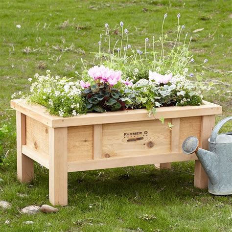 Raised Planter Boxes With Legs by How To Build A Planter Box With Legs Woodworking