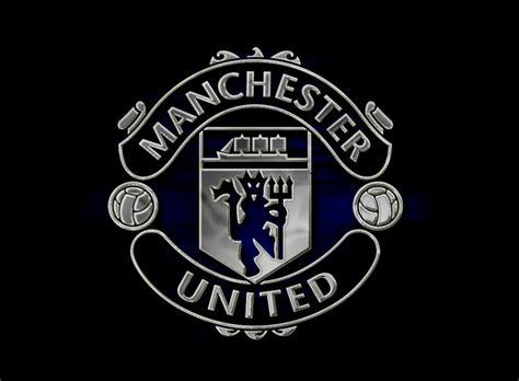 Manchester United White manchester united logo black and white