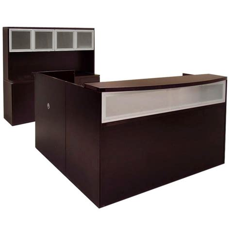 L Shape Reception Desk Glass Reception Desk Glass