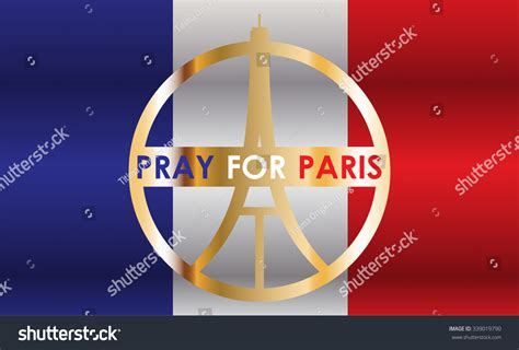 cara edit foto pray for paris eiffel tower logo paris icon design peace hope sign