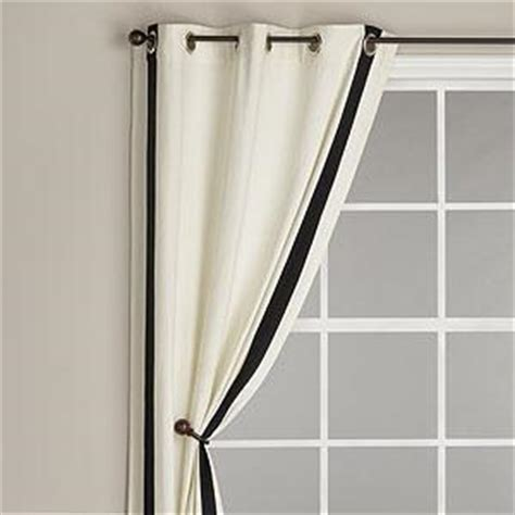 black and white grommet curtains white curtains with black trim