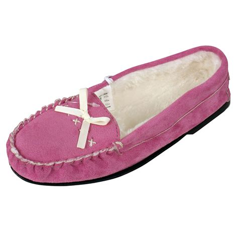 moccasin slippers womens womens moccasin faux suede leather slipper moccasins