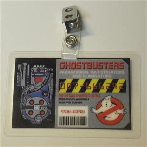 ghostbusters id card template ghostbusters id badge paranormal investigators prop
