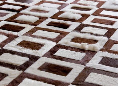Brown And White Rug by Kyle Bunting Modern Cowhide Rugs Interiorzine