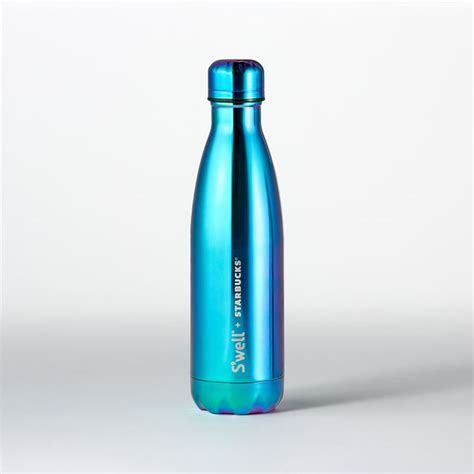 starbucks swell s well 174 water bottle blue metallic 17 fl oz starbucks