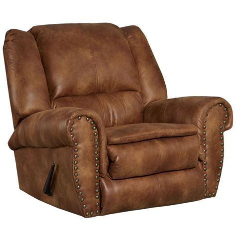 fabric rocker recliners contemporary breathable comfort padre almond fabric
